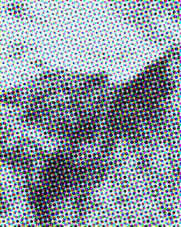 Julieta Schildknecht, Untitled / Bergbild, 2004 (detail). Inkjet print on newspaper, 128 x 204 cm © Julieta Schildknecht